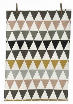Ferm Living Dishcloth triangolo cotone, multicolore, 50x70cm