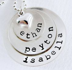 would love this with my kid's names on it!! =)