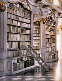 OMG...hello, my darling library. The entire site, greigedesign, is amazing, I could pin it all!