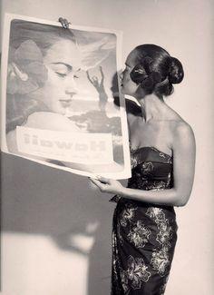 Vintage Hawaiian 1957 Beautiful Miss Hawaii Poster Honolulu Proof Photograph | eBay