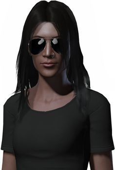 Fallout 2 - The Chosen One - Alessandra-Maria - Aviator sunglasses. From http://www.writeups.org/fallout-2chosen-one-character-profile/