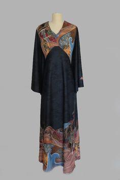 """Vintage 1960s """"Edith Flagg"""" Maxi Caftan Dress"""