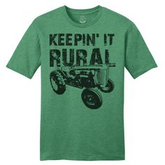 keeping it real keeping it rural keepin it real keepin it rural tractor, farm, funny, t-shirts, humor, trendy. www.masonjarlabel.com Country Outfits, Western Outfits, Vinyl Shirts, Tee Shirts, T Shirt Fundraiser, Western Wear For Women, Shirt Outfit, Shirt Designs, Mens Tops
