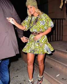 Beyonce was spotted wearing an exclusive DONIA ALLEGUE piece during the Halloween party at the 1OAK in New York City. www.doniaallegue.com