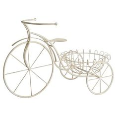 Iron Bicycle Planter - Pier One Garden Yard Ideas, Garden Planters, Bicycle Basket, Potted Plants, Beautiful Gardens, Flower Pots, Great Gifts, Iron, Outdoor Decor
