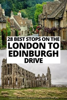 Driving from London to Edinburgh? Going on a London to Scotland road trip? These are the best places to visit between London and Edinburgh including (but not limited to!) Oxford, Cambridge, York, the Lake District, and some charming hidden gems! Scotland Road Trip, Scotland Travel, Ireland Travel, London To Scotland, England And Scotland, Oh The Places You'll Go, Cool Places To Visit, Places To Travel, Scotland Culture