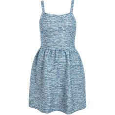 Miss Selfridge Boucle Pinafore Dress ($57) ❤ liked on Polyvore