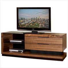 """Lowest price online on all Martin Furniture Stratus 70"""" Television Console in Walnut - SS370"""