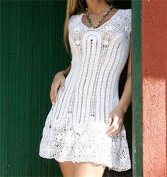 Crochet dress with diagram        ♪ ♪ ... #inspiration_crochet #diy GB http://www.pinterest.com/gigibrazil/boards/