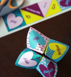 Kids will love making our Valentine printable cootie catcher! Easy folding illustrations and a choice of cute sayings make a fun craft on this special day! - Everyday Dishes & DIY