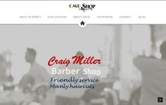 Craig Miller Barber is a local northeast barber based in Tyne & Wear website by Planet Jon AKA (pltjon)