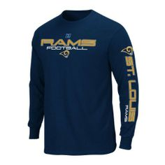 NFL St. Louis Rams Primary Receiver III Long Sleeve T-Shirt, Athletic Navy, Large by Majestic. $16.76. Display your fandom with this officially licensed NFL Primary Receiver II Long Sleeve T-Shirt. This team-spirited gem features bold screen print graphics and vibrant team colors. A great buy for any casual or die-hard Bears fans.