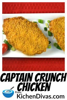 My husband loves Captain Crunch cereal and loves this Captain Crunch Chicken recipe. I think he could eat this coating all day long! Simple and tasty, this chicken dish never disappoints! Baked Chicken Recipes, Meat Recipes, Asian Recipes, Cooking Recipes, Ethnic Recipes, Best Dinner Recipes, Brunch Recipes, Nuwave Chicken, Captain Crunch Chicken