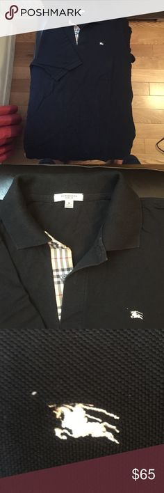 Burberry London Short Sleeve Polo Men's Medium Burberry London Short Sleeve Polo Men's Medium Black. Excellent used condition. Can also fit women's XL. Burberry Tops Button Down Shirts