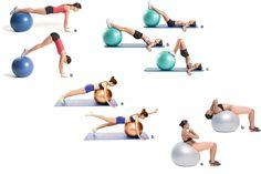 Tonificar abdominais com a bola de pilates
