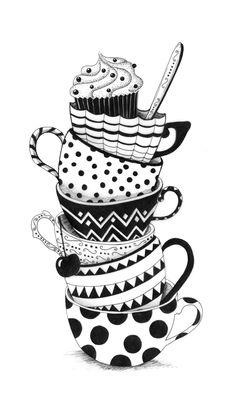 Cute Doodle Art, Doodle Art Designs, Doodle Art Drawing, Zentangle Drawings, Doodle Art Simple, Sketch Drawing, Zentangle Patterns, Art Drawings Sketches Simple, Pencil Art Drawings