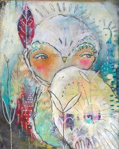 In Dreams. Mixed Media Painting by Juliette Crane. http://juliettecrane.com
