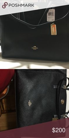 Brand New Hands bags Brand New Authentic Coach black tote leather beautiful designed to wear every day Coach Bags Shoulder Bags