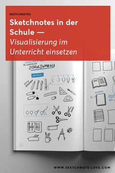 Sketchnotes in der Schule einsetzen – So geht's! – Use sketchnotes at school and in class, it's that easy! With examples and instructions. School Notes, I School, School Classroom, College Math, Visual Thinking, Math Notes, Pretty Notes, Sketch Notes, Guided Math