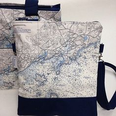 Nautical Chart Bags.... http://www.oceanofferings.com/nfn-crossbody.html