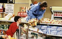 Laverne and Shirley,  The show was set in 1959-1967, but ran from 1976 to 1983, so for many children of the 80s, it was a bit before their time or on its last legs as we matured into seasoned sitcom consumers. Nevertheless, even as a youngster.  One of the best opening sequences in television history.