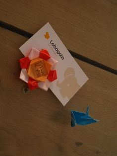 We get lots of different little presents from our guests. Little Meria from Japan made us this cool #origami crane & lotus with Thank you note #Lobagolabnb #Zagreb #Croatia #travelerschoice2015