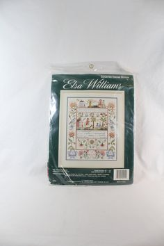 3D Rose Christmas Cross Stitch Sampler Pot Holder 8 x 8