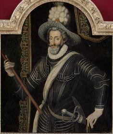 | Portrait d'Henri IV en cuirasse et panache blanc, roi de France et de Navarre (1553-1610) | Images d'Art