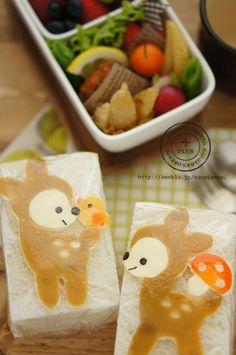 『バンビちゃんのサンドイッチ弁当♪』Bambi Bread