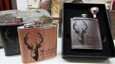 Set of 8 Groomsmen Box Sets Groomsman Flask by weddingpartygifts