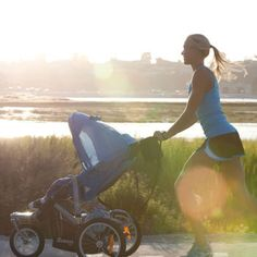 Ready to reclaim your exercise routine? New parents can stay healthy and active with the help of this easy-to-maneuver jogging stroller. It features a reclining seat, windowed sun canopy and suspension technology for a smoother ride to help keep your baby comfortable (or comfortably asleep).