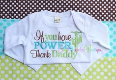 If You Have Power Thank Daddy Embroidered Shirt - Lineman Daddy - Girls or Boys Shirt on Etsy, $22.00