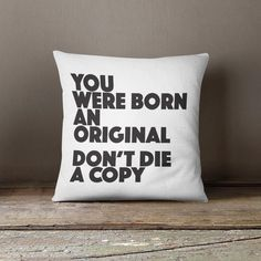 Quote Throw Pillow case indoor cushion by LoudUniverseHome on Etsy