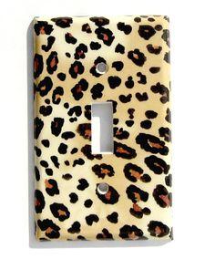 Jungle Leopard Print Light Switch Cover Single Toggle Standard. $6.50, via Etsy.