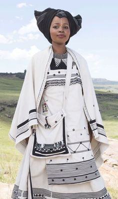 Xhosa Traditional Attires become the perfect choice for African American Women who need to look like a queen in coming occasions. Below are 23 Xhosa Attires. African Wedding Attire, African Attire, African Wear, African Fashion Dresses, African Women, African Dress, African Weddings, African Style, African Beauty