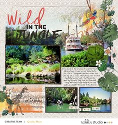 Disney Wild in the Jungle Mark Twain River Boat digital scrapbook layout using Project Mouse (Animal) | Artsy & Pins by Britt-ish Designs and Sahlin Studio