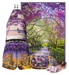 """spring, purple, garden, floral"" by concettodimoda ❤ liked on Polyvore featuring Mary Katrantzou, Avril Gau, Jeffrey Campbell and AERIN"
