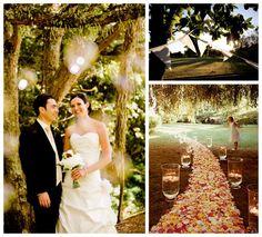 Love Me Do - NZ Wedding Blog - inspiration for New Zealand Weddings: Garden Weddings... petals and hurrican vase