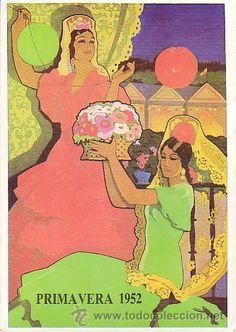 Cartel de Las Fiestas de Primavera de Sevilla 1952