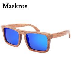 >> Click to Buy << Maskros Men's Polarized Wood Sunglasses Men Women Male Vintage Retro Black Sun glasses For Female 2017 Flat Top Wooden Products #Affiliate