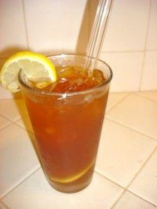 organic chai sweet tea cocktail with kombucha