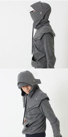 So awesome - Knight Armor Hoodie. From iamknight on Etsy. Especially cool because I am a Lone Peak Knight! Looks Style, Looks Cool, My Style, Look Fashion, Kids Fashion, Womens Fashion, Fashion Models, Knight Armor Hoodie, Mode Vintage