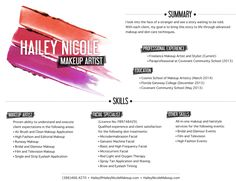 makeup artist resume google search more - Makeup Artist Resume