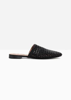 & Other Stories image 1 of Braided Leather Slippers in Black