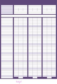 blank household budget sheet