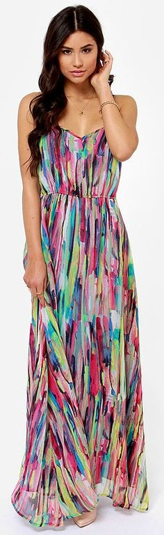 abstract print maxi dress. Have this and LOVE it!  It's so cute with a belt.