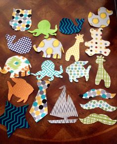 Assorted Baby Iron-on Appliques to be ironed onto a bodysuit, burp cloth, quilt, bib, etc. Creates an adorable craft station for any baby shower. Appliques adhere to fabric using an iron- Super easy! Seller will pick from stock unless a custom order is requested. Custom orders typically take additional time and may incur an additional cost. Styles and patterns will vary and buyer will not receive exactly as pictured. A variety of fabrics will be used (although they may not be pictured)…