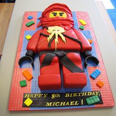 Ninjago birthday cake, Robbie would love this
