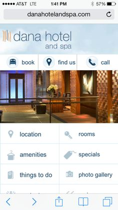 At dana, we are about making your experience as smooth as possible.   Did you know you can now book your stay, view our amenities, things to do in Chicago, and more all from the convenience of your smartphone or tablet?