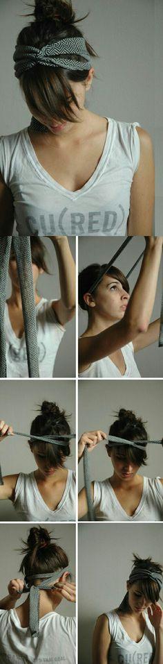 Peinado cinta